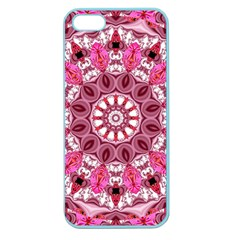 Twirling Pink, Abstract Candy Lace Jewels Mandala  Apple Seamless Iphone 5 Case (color) by DianeClancy