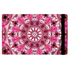 Twirling Pink, Abstract Candy Lace Jewels Mandala  Apple Ipad 2 Flip Case