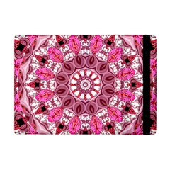 Twirling Pink, Abstract Candy Lace Jewels Mandala  Apple Ipad Mini Flip Case by DianeClancy
