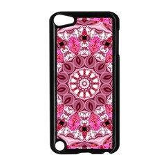 Twirling Pink, Abstract Candy Lace Jewels Mandala  Apple Ipod Touch 5 Case (black) by DianeClancy