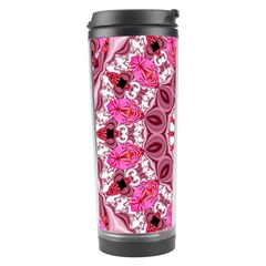 Twirling Pink, Abstract Candy Lace Jewels Mandala  Travel Tumbler by DianeClancy