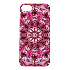 Twirling Pink, Abstract Candy Lace Jewels Mandala  Apple Iphone 5s Hardshell Case by DianeClancy
