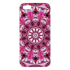 Twirling Pink, Abstract Candy Lace Jewels Mandala  Iphone 5s Premium Hardshell Case by DianeClancy