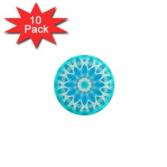 Blue Ice Goddess, Abstract Crystals Of Love 1  Mini Button Magnet (10 Pack) by DianeClancy