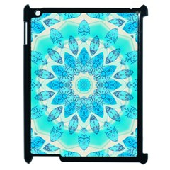 Blue Ice Goddess, Abstract Crystals Of Love Apple Ipad 2 Case (black) by DianeClancy