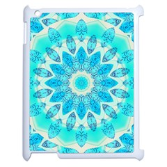 Blue Ice Goddess, Abstract Crystals Of Love Apple Ipad 2 Case (white) by DianeClancy
