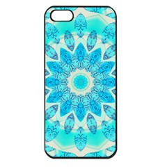 Blue Ice Goddess, Abstract Crystals Of Love Apple Iphone 5 Seamless Case (black)