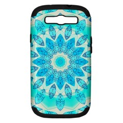 Blue Ice Goddess, Abstract Crystals Of Love Samsung Galaxy S Iii Hardshell Case (pc+silicone) by DianeClancy