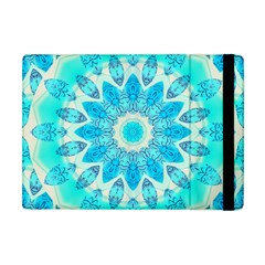 Blue Ice Goddess, Abstract Crystals Of Love Apple Ipad Mini Flip Case by DianeClancy