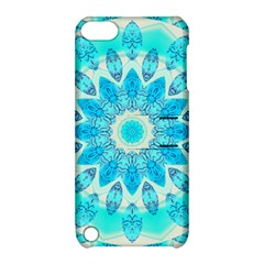 Blue Ice Goddess, Abstract Crystals Of Love Apple Ipod Touch 5 Hardshell Case With Stand by DianeClancy