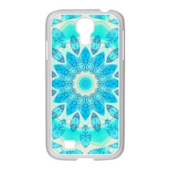 Blue Ice Goddess, Abstract Crystals Of Love Samsung Galaxy S4 I9500/ I9505 Case (white) by DianeClancy