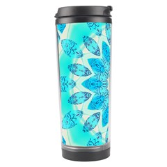 Blue Ice Goddess, Abstract Crystals Of Love Travel Tumbler by DianeClancy