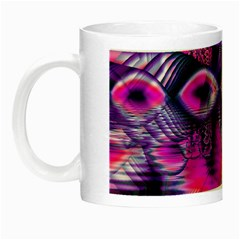 Rose Crystal Palace, Abstract Love Dream  Glow In The Dark Mug by DianeClancy