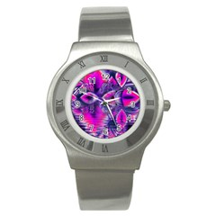 Rose Crystal Palace, Abstract Love Dream  Stainless Steel Watch (slim) by DianeClancy