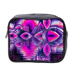 Rose Crystal Palace, Abstract Love Dream  Mini Travel Toiletry Bag (two Sides) by DianeClancy