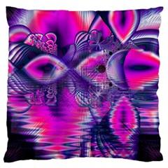 Rose Crystal Palace, Abstract Love Dream  Large Cushion Case (two Sided)  by DianeClancy