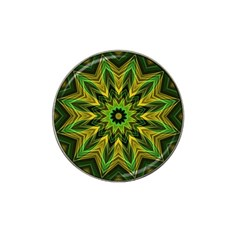Woven Jungle Leaves Mandala Golf Ball Marker (for Hat Clip) by Zandiepants