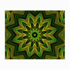 Woven Jungle Leaves Mandala Glasses Cloth (small) by Zandiepants