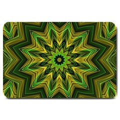 Woven Jungle Leaves Mandala Large Door Mat by Zandiepants