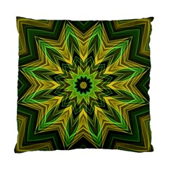 Woven Jungle Leaves Mandala Cushion Case (single Sided)  by Zandiepants