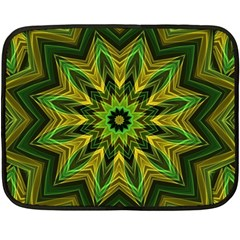 Woven Jungle Leaves Mandala Mini Fleece Blanket (two Sided) by Zandiepants