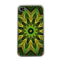 Woven Jungle Leaves Mandala Apple Iphone 4 Case (clear) by Zandiepants