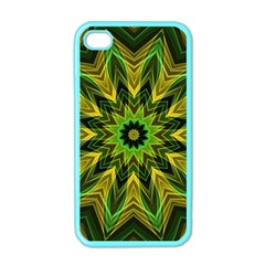 Woven Jungle Leaves Mandala Apple Iphone 4 Case (color) by Zandiepants