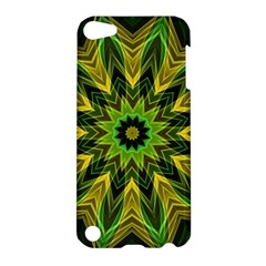 Woven Jungle Leaves Mandala Apple Ipod Touch 5 Hardshell Case by Zandiepants