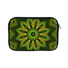 Woven Jungle Leaves Mandala Apple iPad Mini Zippered Sleeve by Zandiepants