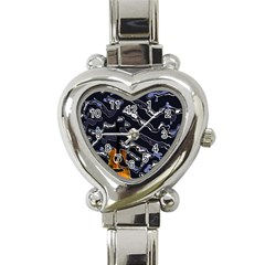 Sound Waves Heart Italian Charm Watch  by Rbrendes