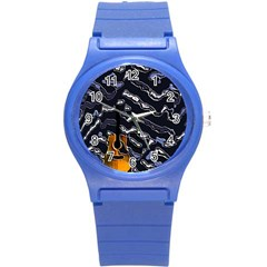 Sound Waves Plastic Sport Watch (small) by Rbrendes