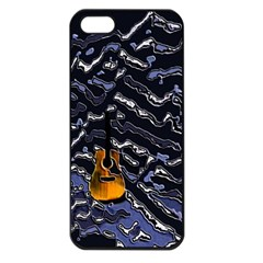 Sound Waves Apple iPhone 5 Seamless Case (Black) by Rbrendes