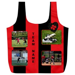Black And Red(any Team) Recycle Bag (xl) By Deborah   Full Print Recycle Bag (xl)   7zwth28togw8   Www Artscow Com Back