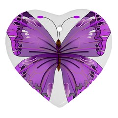 Purple Awareness Butterfly Heart Ornament by FunWithFibro