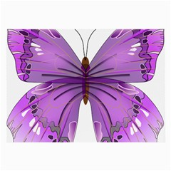 Purple Awareness Butterfly Glasses Cloth (large) by FunWithFibro