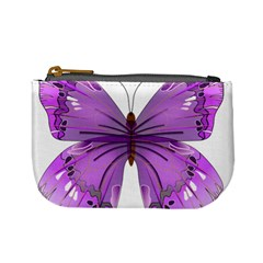 Purple Awareness Butterfly Coin Change Purse by FunWithFibro