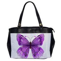 Purple Awareness Butterfly Oversize Office Handbag (one Side) by FunWithFibro