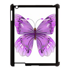 Purple Awareness Butterfly Apple Ipad 3/4 Case (black) by FunWithFibro