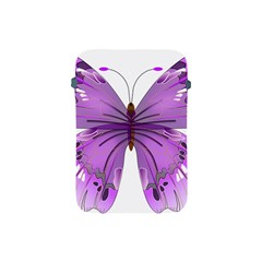 Purple Awareness Butterfly Apple Ipad Mini Protective Sleeve by FunWithFibro