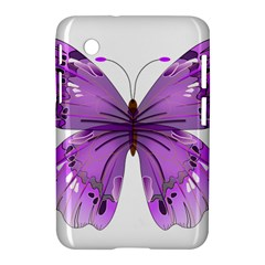 Purple Awareness Butterfly Samsung Galaxy Tab 2 (7 ) P3100 Hardshell Case  by FunWithFibro