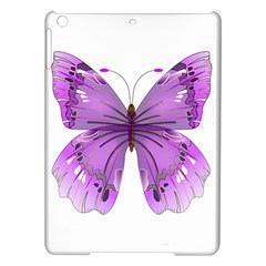Purple Awareness Butterfly Apple Ipad Air Hardshell Case by FunWithFibro