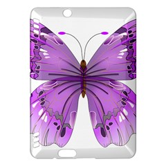 Purple Awareness Butterfly Kindle Fire Hdx 7  Hardshell Case by FunWithFibro