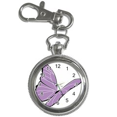Purple Awareness Butterfly 2 Key Chain Watch by FunWithFibro