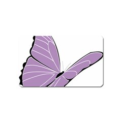 Purple Awareness Butterfly 2 Magnet (name Card) by FunWithFibro