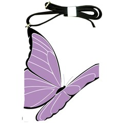 Purple Awareness Butterfly 2 Shoulder Sling Bag by FunWithFibro