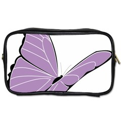 Purple Awareness Butterfly 2 Travel Toiletry Bag (two Sides) by FunWithFibro