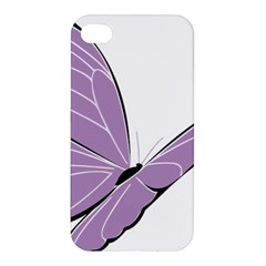 Purple Awareness Butterfly 2 Apple Iphone 4/4s Premium Hardshell Case by FunWithFibro
