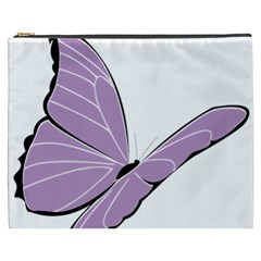 Purple Awareness Butterfly 2 Cosmetic Bag (xxxl) by FunWithFibro