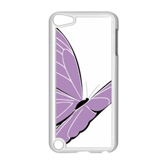 Purple Awareness Butterfly 2 Apple Ipod Touch 5 Case (white) by FunWithFibro