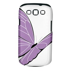Purple Awareness Butterfly 2 Samsung Galaxy S Iii Classic Hardshell Case (pc+silicone) by FunWithFibro